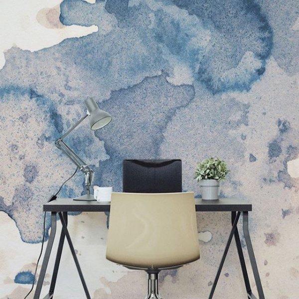 blue, wall, modern art, painting, furniture,