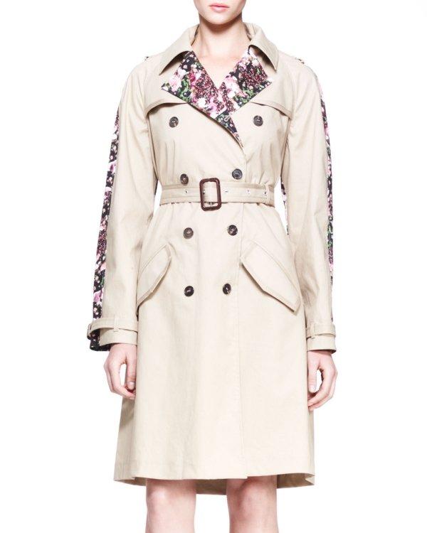 Givenchy Floral Panel Raincoat