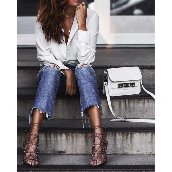 jeans, denim, clothing, footwear, leather,