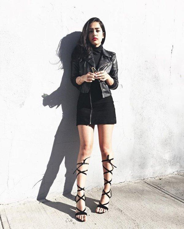 clothing, black, footwear, sneakers, black hair,