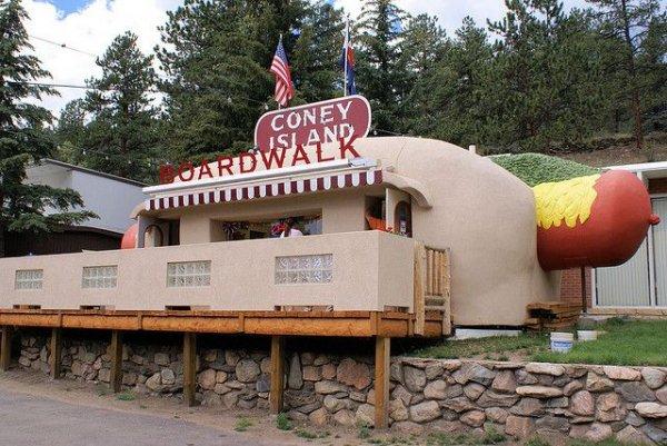 Coney Island Hot Dog Stand, Bailey, Rocky Mountains, Colorado, USA