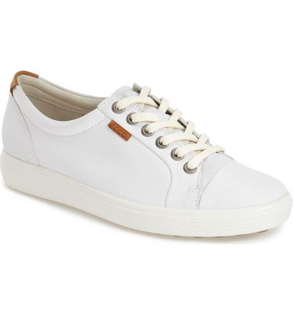 footwear, shoe, sneakers, white, leather,