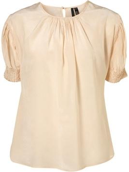 Topshop Boutique Cream Silk Blouse