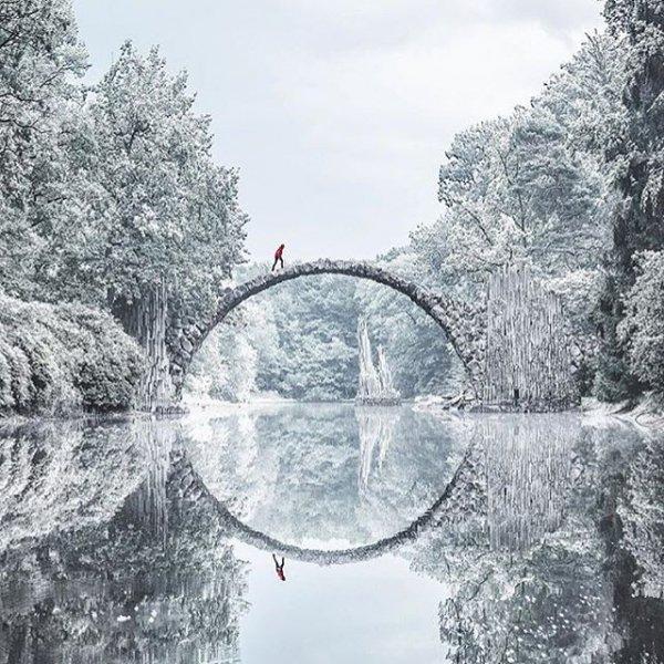 snow, winter, atmospheric phenomenon, tree, water,