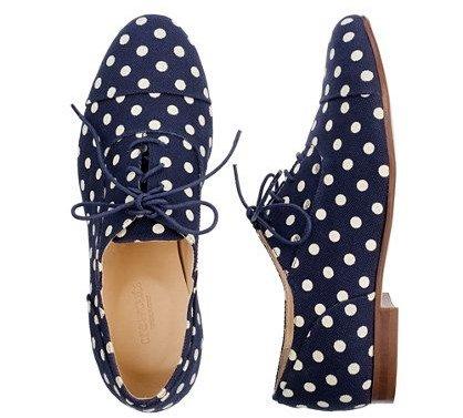 Polka Dot Oxford Shoes