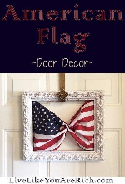 American Flag Door Decor