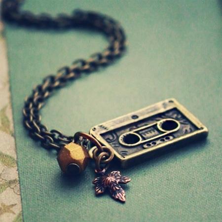 Autumn Mix Tape Necklace by Violet Bella