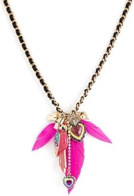 Viva La Betsey Parrot Pendant Necklace