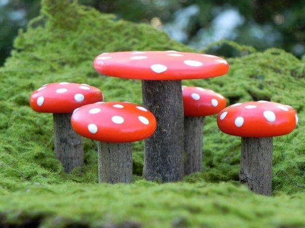 Good Mushroom Stools. Via Fairy Garden Table And Chairs .