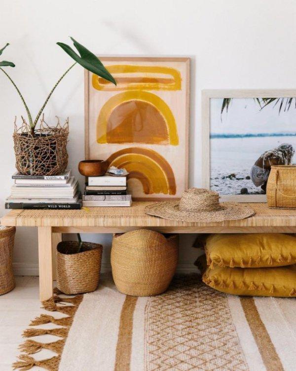 Yellow, Room, Furniture, Interior design, Living room,
