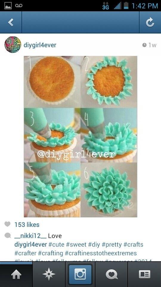 Flowery Cupcake
