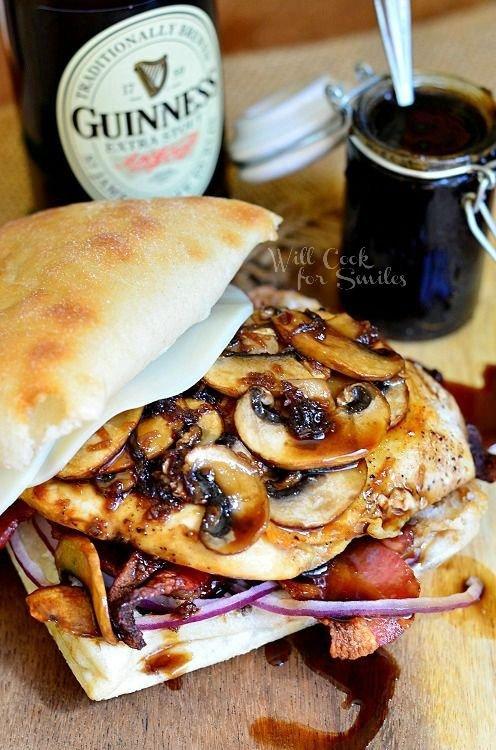 Guinness Glaze Chicken Sandwich