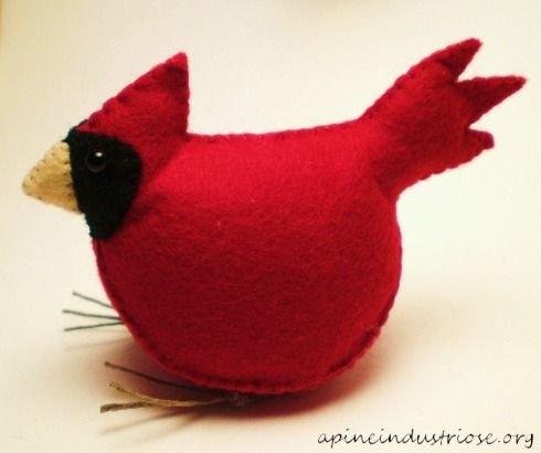 Tiny Red Cardinal