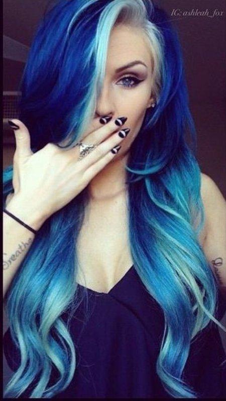 Multi-colored Blue