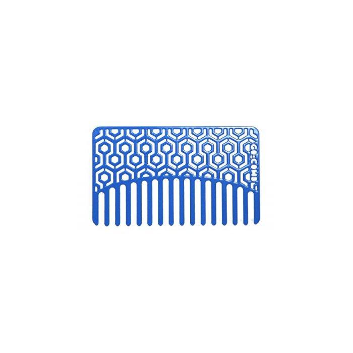 Blue Hexagon Go-Comb - Wallet & Travel Hair Comb
