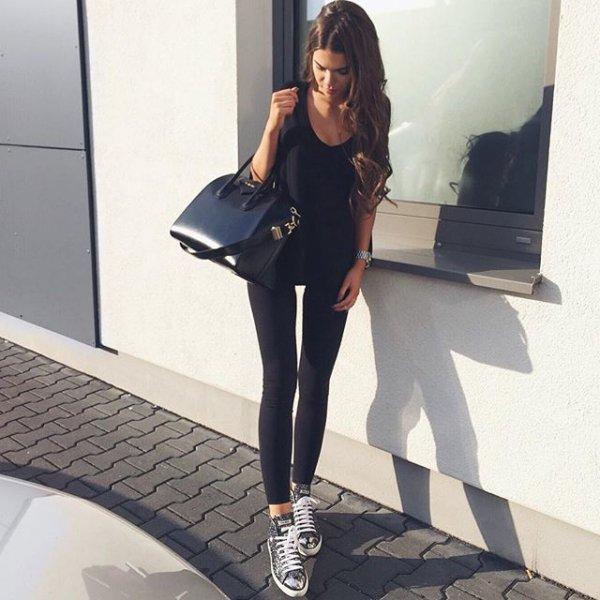 black, clothing, footwear, tights, high heeled footwear,