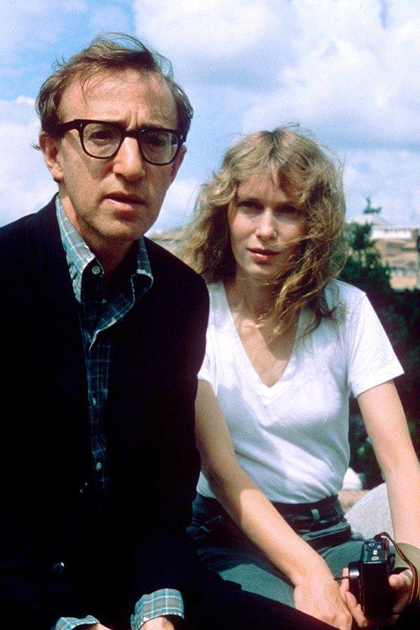 Mia Farrow and Woody Allen