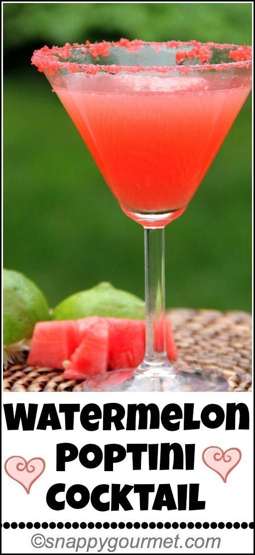Watermelon Poptini Cocktail