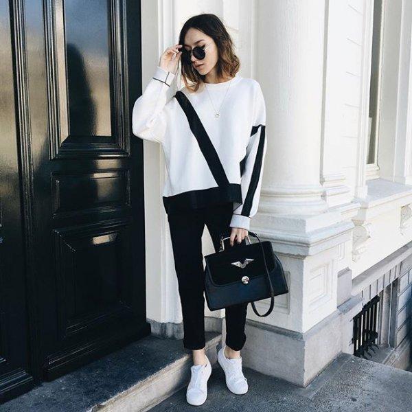 white, clothing, black, sleeve, outerwear,
