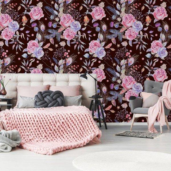 pink, interior design, petal, wallpaper, pattern,