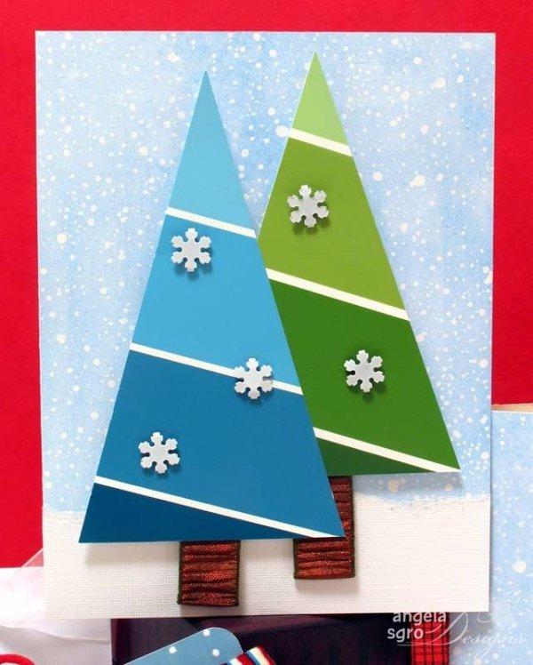 Paint Sample Christmas Cards