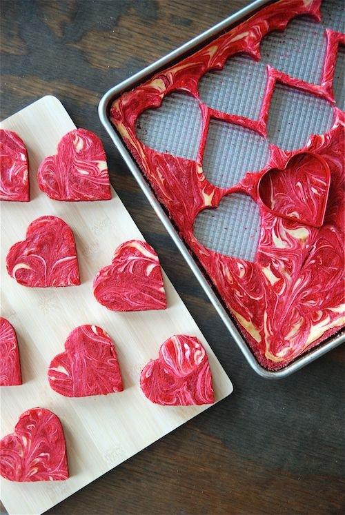 Marbled Red Velvet Cheesecake Brownies -