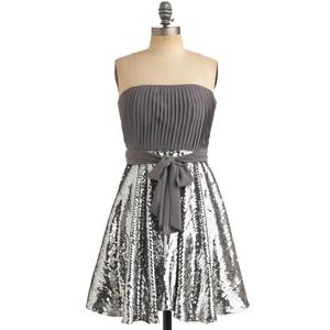 Stylish Self Di-Sequin Dress