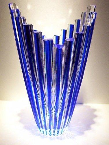 Crystal Cobalt Blue Vase