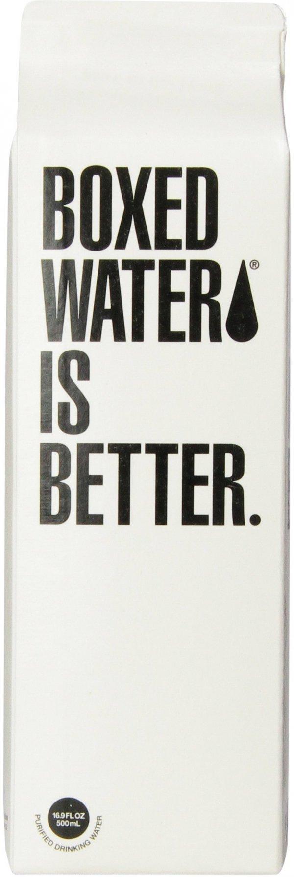 Boxed Water, distilled beverage, sland, WATER,