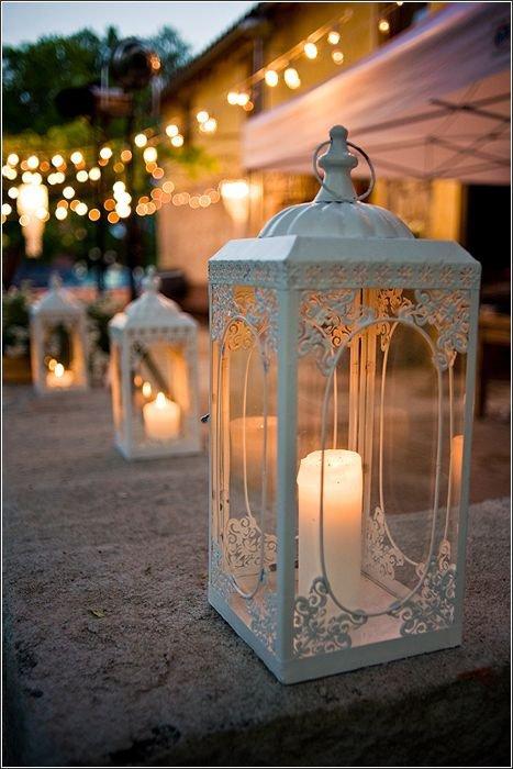 Lanterns Add a Romantic, Whimsical Feel