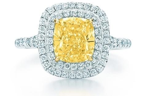 Tiffany Sola Yellow Diamond Ring