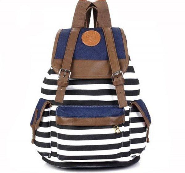 Unisex Fashionable Canvas Backpack