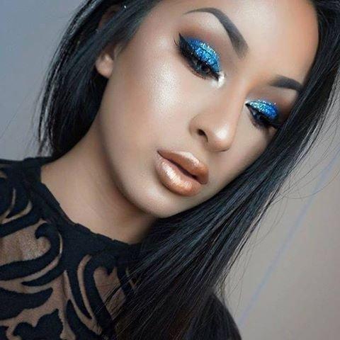 hair, face, eyebrow, black hair, blue,