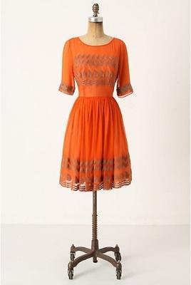 Tangerine Flicker Dress