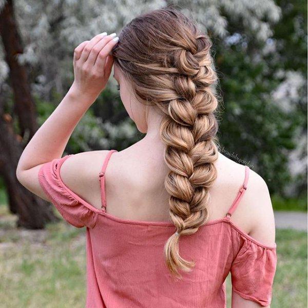 hair, hairstyle, pink, blond, braid,