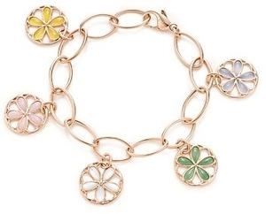 Tiffany Garden Flower Charm Bracelet