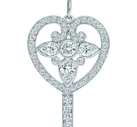Tiffany Keys Ornate Heart Key Pendant