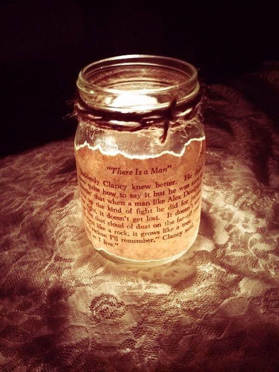 candle, lighting, mason jar, glass, There,
