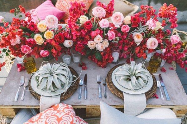 Pretty Outdoor Valentine's Day Wedding