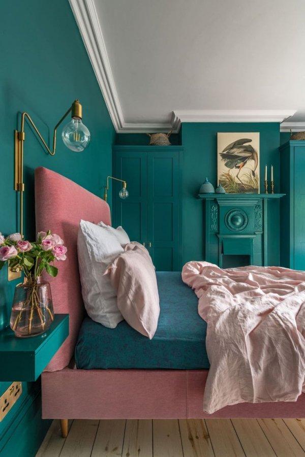 Blue, Room, Green, Aqua, Turquoise,