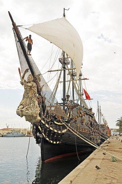 Pirate Ship in Sousse Harbor, Tunisia