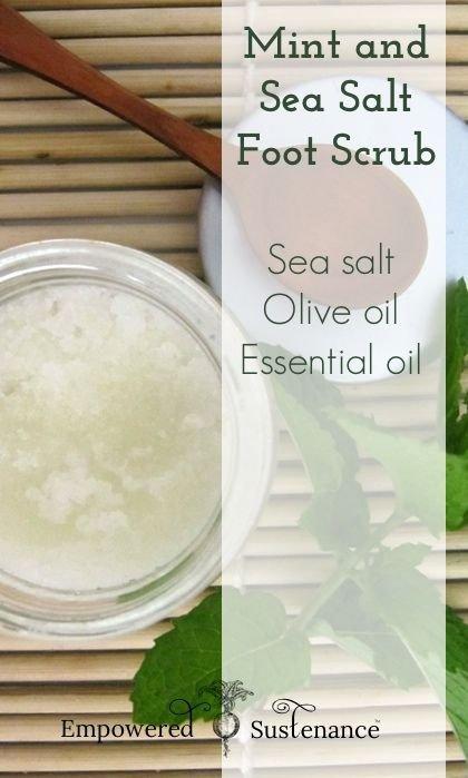 Mint and Sea Salt Foot Scrub