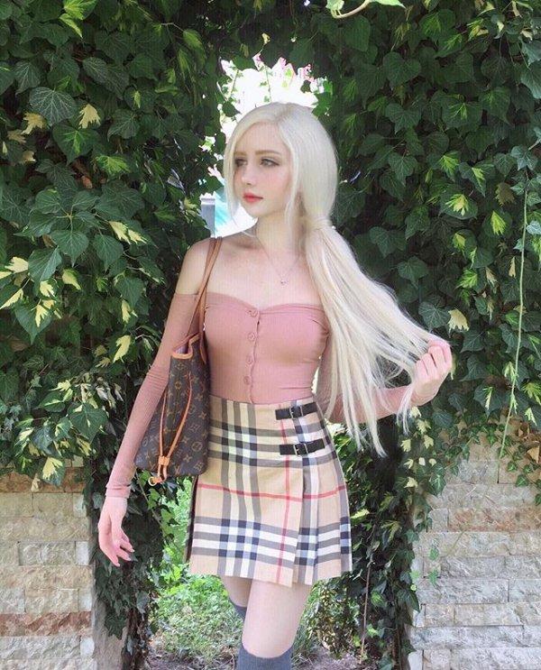 human hair color, blond, black hair, girl, long hair,
