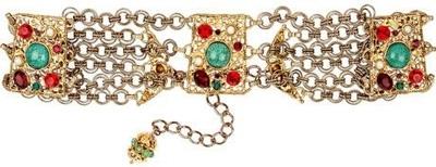 Dolce & Gabanna Crystal Embellished Brass Belt