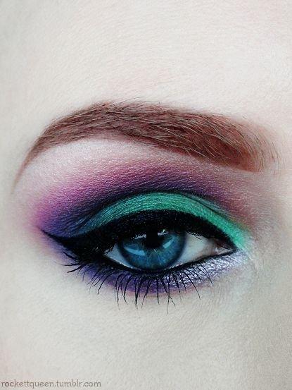 Jewel Toned Eyeshadow