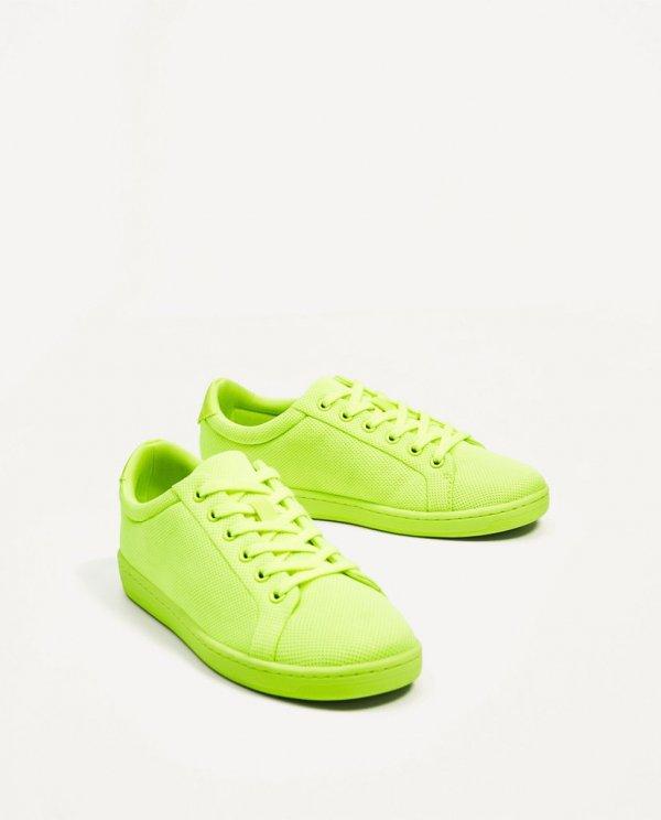 footwear, shoe, green, yellow, sneakers,