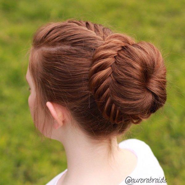 hair, hairstyle, long hair, close up, bun,