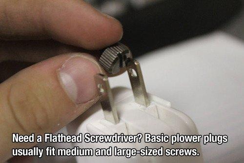 No Flathead Screwdriver? No Problem