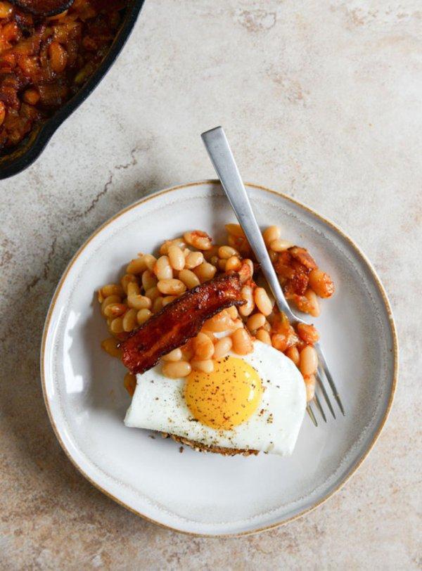 dish, food, baked beans, cuisine, vegetarian food,