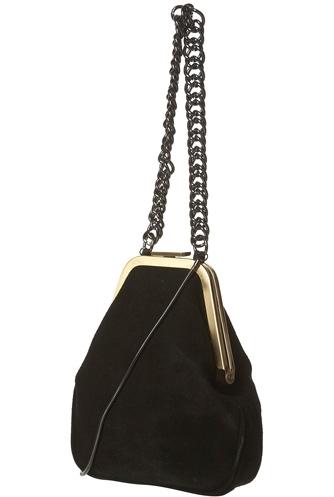 Topshop Suede Clip Frame Bag